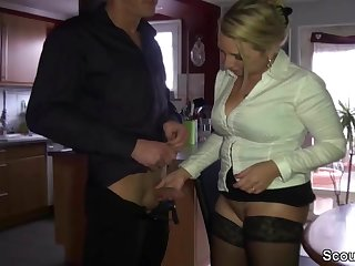 German Big Natural Tits Mother Seduce Step-Bro to Fuck