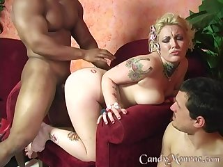 Black penis and a strong cum are the things that Candy Monroe dreams