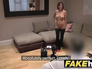 Randy Brit housewife is getting torn up during a job interview, and loving every 2nd of it